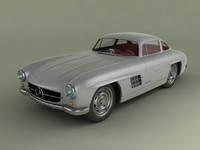 3d model 300sl gullwing