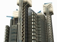 lloyds building london 3d max