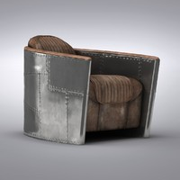 Restoration Hardware - Aviator Chair Antiqued Ebony