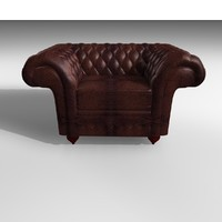 3d grosvenor 1 seater leather chair