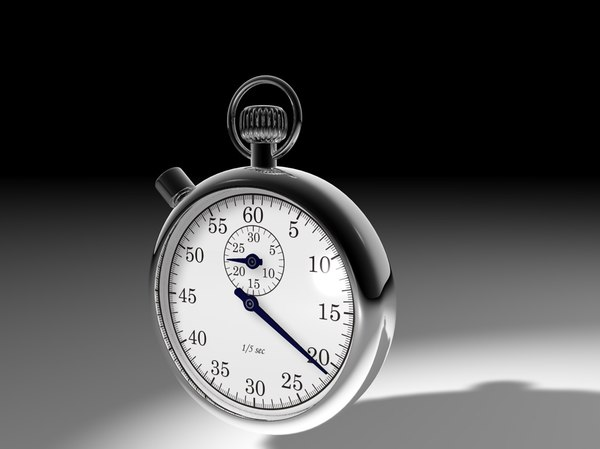 stop watch stopwatch c4d - Stopwatch... by renderhaus_de