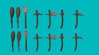 stone age tools obj
