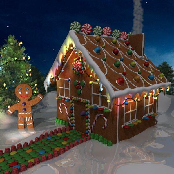 3d Model Gingerbread House