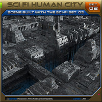 SciFi_Human City Set02