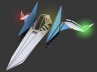 3d model of arwing star - fox