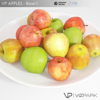 3d apples fruit realistic