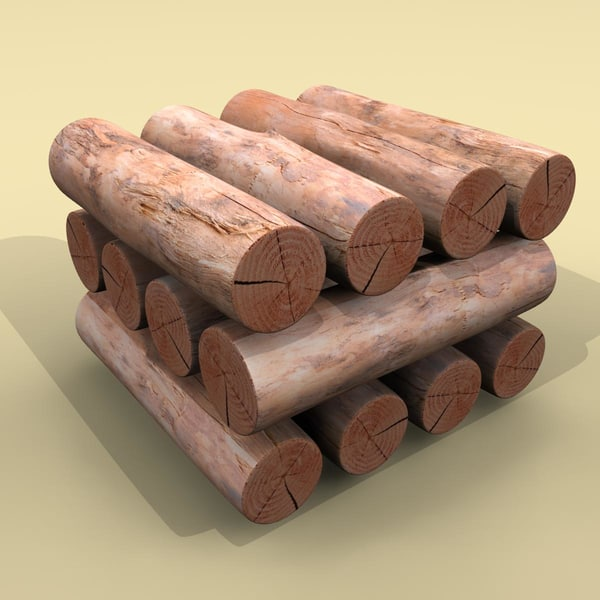 firewood logs 3d 3ds - Wood logs... by tanase laurentiu