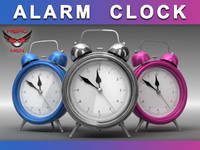 render alarm clock 3d model