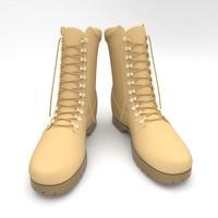 3d model hiking boots