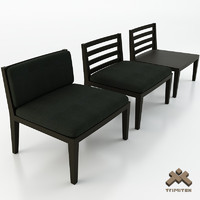 generic chair seat 3d model