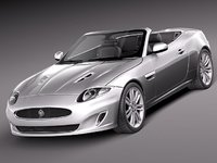 3d model of xkr 2012 sport convertible
