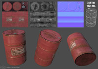 barrel lp hp 3d model