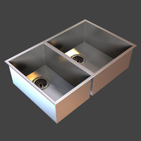 clark razor bowl sink 3d model