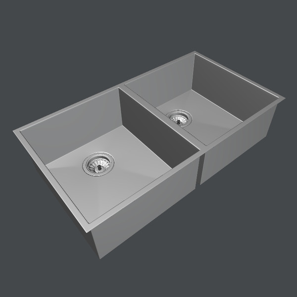 3d model clark razor sink range - Clark Razor Kitchen Sink Range... by brian.coates