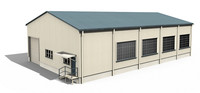 building warehouse 3d model