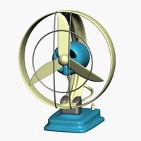retro desk fan 3d model