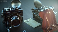 3d fantasy camera steampunk model
