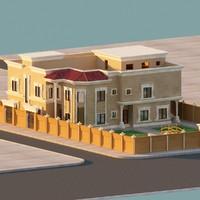 mediterranean villa 3d model