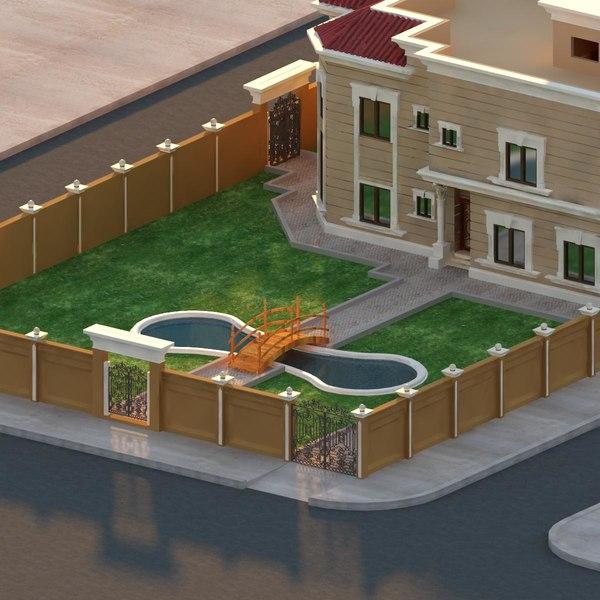 Mediterranean villa 3d model - Mediterrane mobel ...