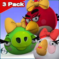 3 Pack: Angry Birds & Pig Girls