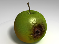 c4d rotten apple