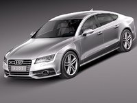 3d model of audi s7 sedan luxury