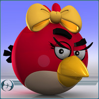 3d female angry bird