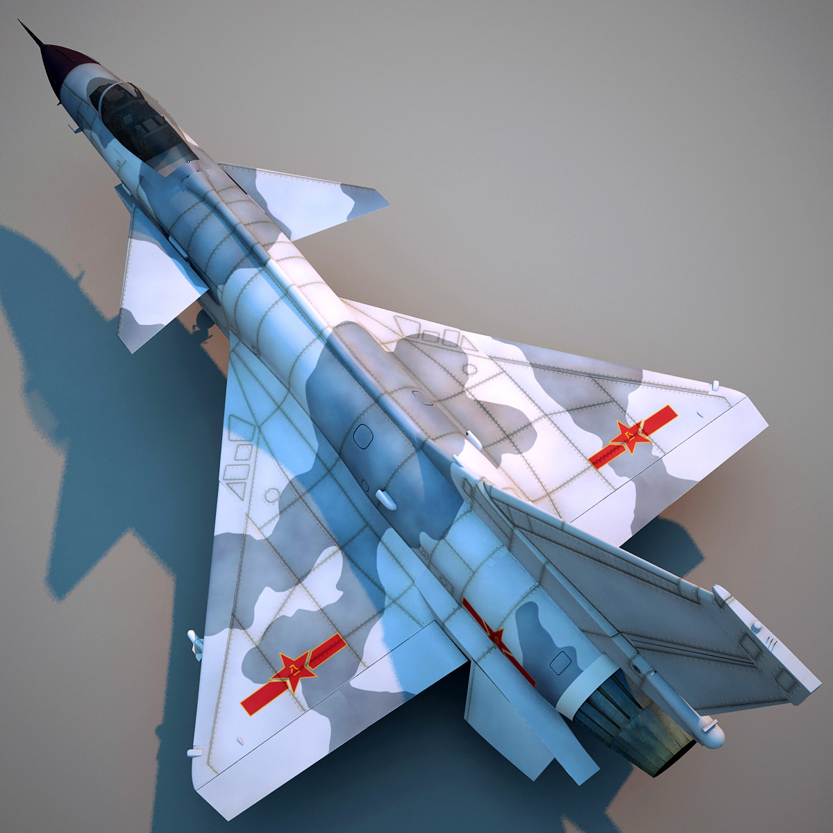 chengdu j 10 china fighter aircraft 3d c4d