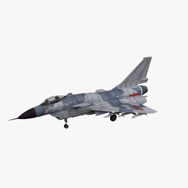 chengdu j-10 china fighter aircraft 3d c4d - Chengdu J-10 ...
