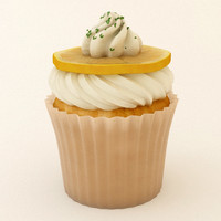 3d cupcake 08 model