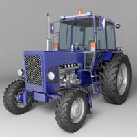 3d agricultural mtz-80 model