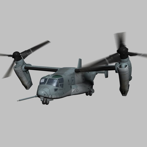 3d games cargo model - MV-22 USMC Transport Aircraft Game Ready Model... by Petr005
