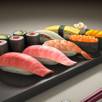 sushi japanese 3d model