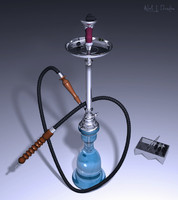 3d sheesha hubbly bubbly model