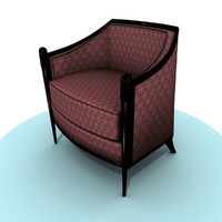 Damask Lounge Chair