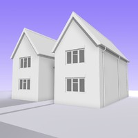 3d british 2 storey house