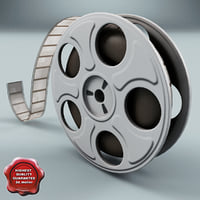 video film reel 3d model