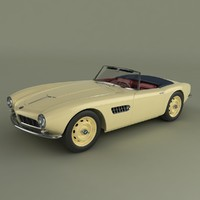 3d bmw 507 roadster
