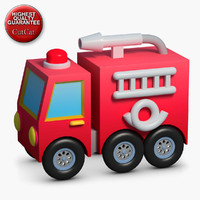 construction icons 45 firetruck 3d model
