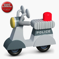 3d model construction icons 46 police