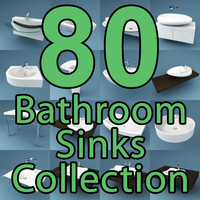 3ds max 80 bathroom sinks