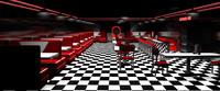 3d scene diner