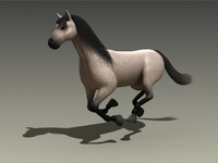 horse galloping 3d max