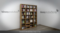 Large bookcase with books