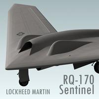 rq-170 sentinel 3d max