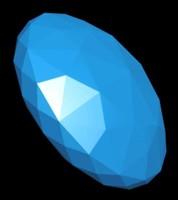 sapphire gem 3d max