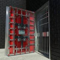 3d bank vault door