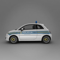 3ds max new fiat 500 2007