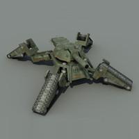 futuristic tank crab 3d obj