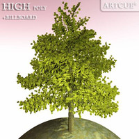 tree high-poly billboard 3d dxf